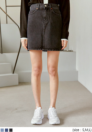 [SKIRT] CLEF A LINE DENIM MINI SKIRT
