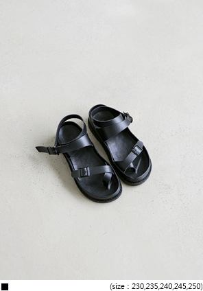 [SHOES] ANKLE BUCKLE STRAP SANDAL