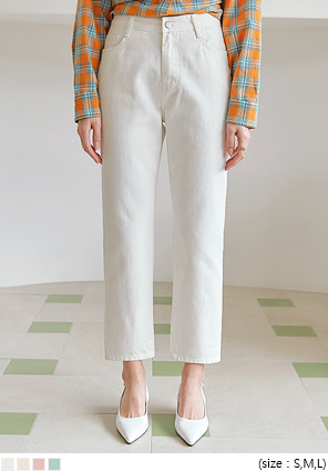 [BOTTOM] STICK OUT BAGGY COTTON PANTS