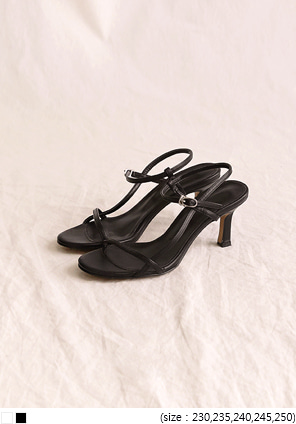 [SHOES] RAGE CROSS STRAP SANDAL HEEL