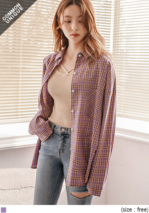 [TOP] LOVELY COLORFUL CHECK SHIRTS