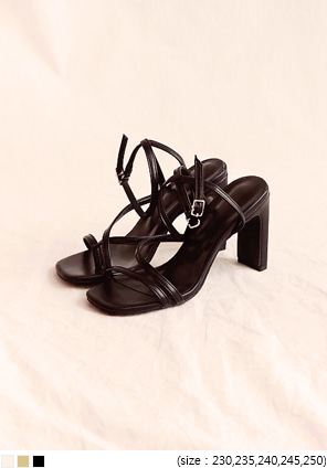 [SHOES] ASCOT UNBAL STRAP SANDAL HEEL