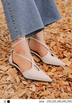 [SHOES] PARRY LACE-UP STILETTO MIDDLE HEEL