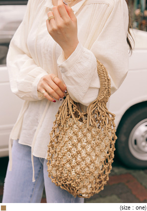 [BAG] KERIN NET RATTAN BAG