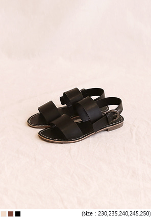 [SHOES] PERMILL BUCKLE STRAP SANDAL