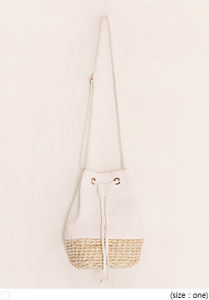 [BAG] CRANK RATTAN COTTON BAG