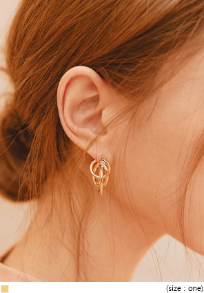 [JEWELRY] TED THREE GOLD RING EARRING
