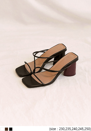 [SHOES] LEEDS THIN STRAP MIDDLE HEEL