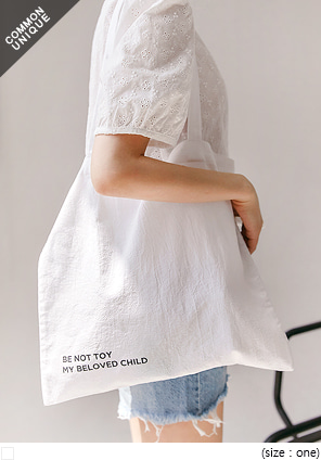 [BAG] BE NOT TOY LETTERING COTTON BAG