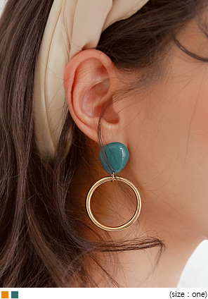 [JEWELRY] HEADZ GOLD CIRCLE DROP EARRING