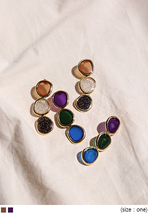 [JEWELRY] ONSE COLOR MIX DROP EARRING