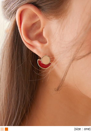[JEWELRY] PRION COLOR MIX MINIMAL EARRING