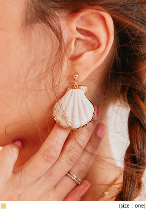 [JEWELRY] CLAM OBJET DROP EARRING