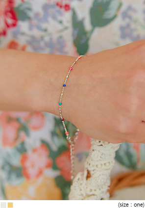 [JEWELRY] PRING COLOR MINI BEADS BRACELET