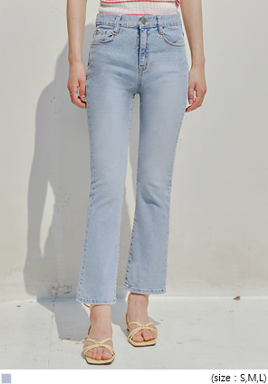 [BOTTOM] VOEL SEMI BOOTS CUT DENIM PANTS