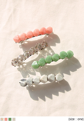 [ACC] POELL COLOR STONE HAIR PIN