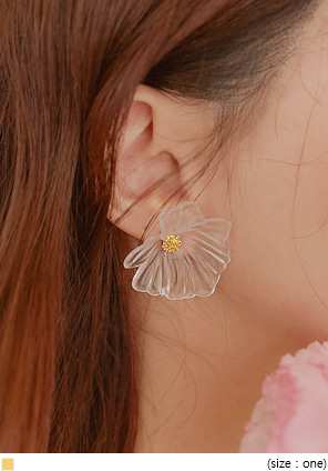 [JEWELRY] PURING BOLD FLOWER EARRING
