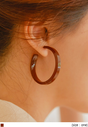 [JEWELRY] GELT SIMPLE RING EARRING