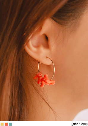 [JEWELRY] BONO MINIMAL STONE RING EARRING