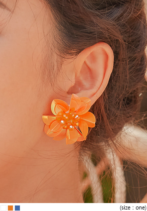 [JEWELRY] MONA SHINY FLOWER EARRING