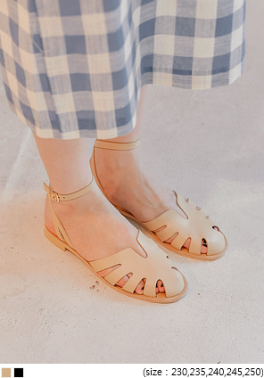 [SHOES] ZIA LEAF BUCKLE STRAP SANDAL