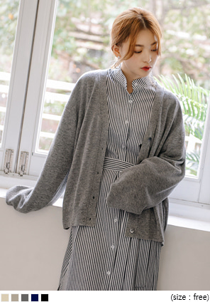 [OUTER] MARGARET WOOL 60% KNIT CARDIGAN