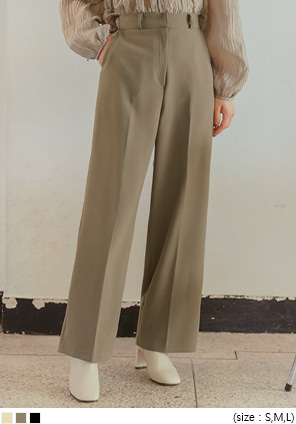 [BOTTOM] BAYON WIDE LONG SLACKS