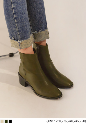 [SHOES] COVENT NAPPING ANKLE BOOTS