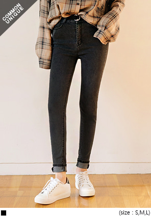 [BOTTOM] HIGH WAIST SPAN DENIM SKINNY