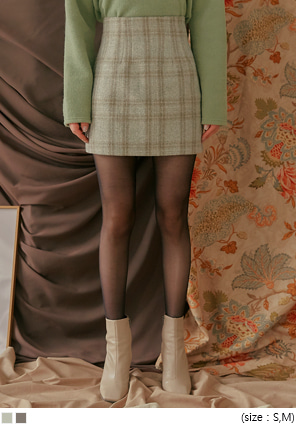 [SKIRT] ROSH WOOL CHECK MINI SKIRT