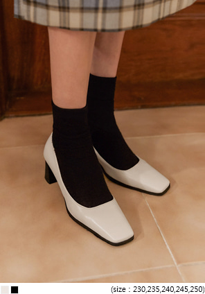 [SHOES] LIONIN BASIC SQUARE HEEL