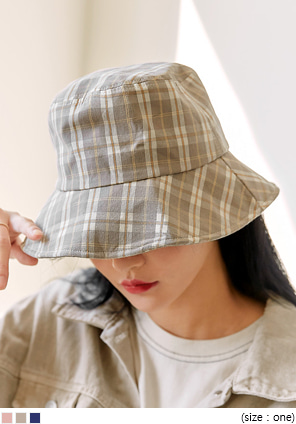 [ACC] LENCOS WIRE CHECK BUCKET HAT