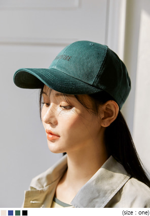 [ACC] LIONI NEEDLE LETTERING BALL CAP
