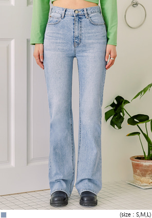 [BOTTOM] ROSIPIN SEMI BOOTS DENIM PANTS