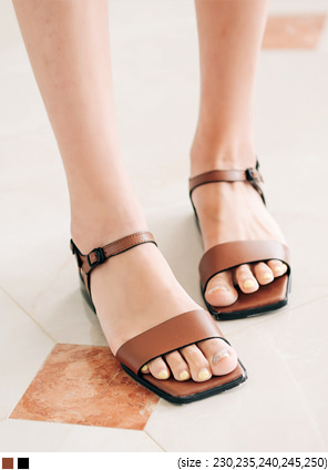 [SHOES] CHIC SQUARE STRAP SANDAL