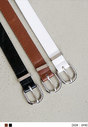 [ACC] SIMPLE SILVER ONE BELT