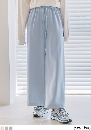 [BOTTOM] ANDRY BANDING WIDE PANTS