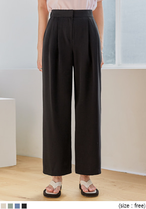 [BOTTOM] POLKI PINTUCK WIDE SLACKS