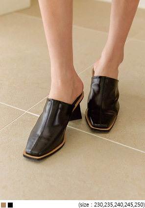 [SHOES] ROIDER SQUARE MIDDLE HEEL