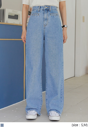 [BOTTOM] PUTTY WIDE LONG DENIM PANTS