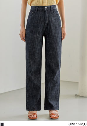 [BOTTOM] FIRST STRAIGHT DENIM PANTS