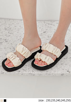 [SHOES] CITY SHIRRING SLIPPER