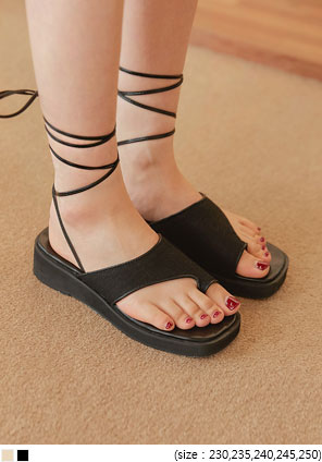 [SHOES] LUNIA LACE-UP PLATFORM SANDAL