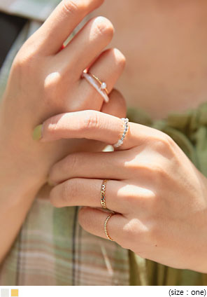 [JEWELRY] LUVIN LAYERED RING 5 SET