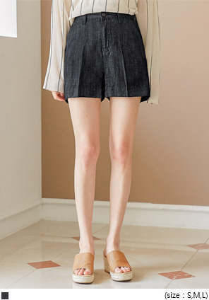[BOTTOM] TRACKER DENIM SHORTS