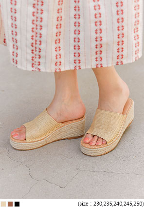 [SHOES] MITZI ESPADRILLE WEDGE SLIPPER