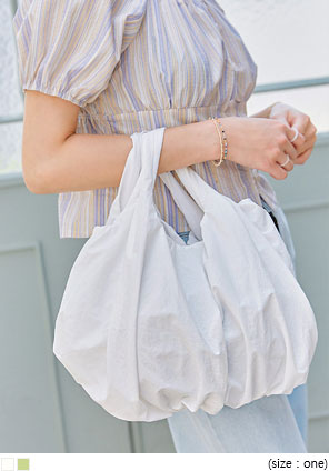 [BAG] NYLON SHIRRING TOTE BAG