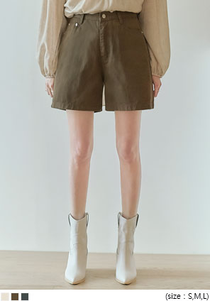 [BOTTOM] KENEDY BASIC COTTON SHORTS