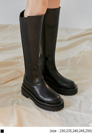 [SHOES] CHUNKY BANDING LONG BOOTS