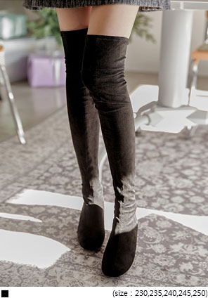 [SHOES] MONTANA SUEDE THIGH HIGH BOOTS